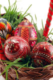 Close-up of colored Easter eggs Royalty Free Stock Image