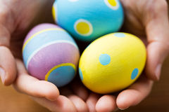 Close up of colored easter eggs Stock Image