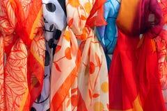 Gauze kerchief. The close-up of colored gauze kerchief Stock Photography