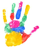 Close up of colored hand print Stock Image