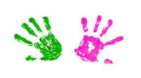 Close up of colored hand print Royalty Free Stock Image