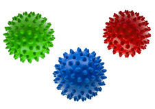 Close-up colored massage balls isolated on white Royalty Free Stock Photography