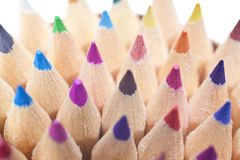 Close Up Colored Pencils Royalty Free Stock Photo