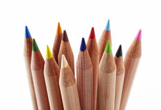 Close-up of colored pencils Royalty Free Stock Images