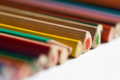 Close up of colored pencils Royalty Free Stock Photo