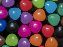 Close-up of colored pens. Close-up of colored pens to use as texture or background Royalty Free Stock Photography