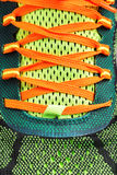 Close-up of colored running shoe laces Stock Images