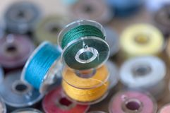 Colored sewing threads Stock Image