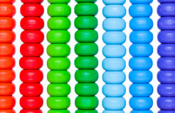Close up colorful abacus, old calculator toy Royalty Free Stock Photos
