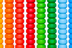 Close up colorful abacus, old calculator toy Stock Images