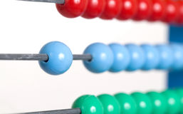 Close up colorful abacus, selective focus Royalty Free Stock Photography