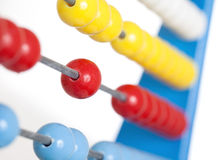 Close up colorful abacus, selective focus Royalty Free Stock Images