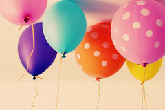 Close up of colorful balloons Royalty Free Stock Photo