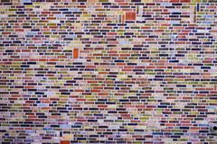 Close up of colorful brick wall texture stock photos