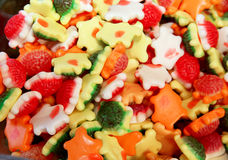 Close up of colorful candies on retail market Stock Images