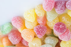 Close-Up Of Colorful Candy. Composition with tasty jelly candies Royalty Free Stock Photo