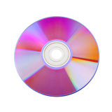 Close-up of colorful CD. Isolated on white baclground Royalty Free Stock Photos