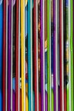 Close up of colorful children encyclopedia foredges. Vertical, abstract royalty free stock photo