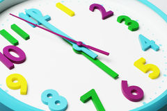 Close up of Colorful Clock Face Royalty Free Stock Images