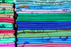 Close up of colorful clothes Stock Photos