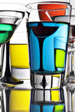 Close up of Colorful cocktails Royalty Free Stock Photo