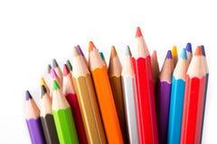 Close up Colorful color pencil Stock Photos