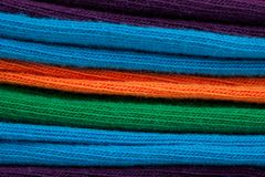 Close up of colorful cotton textile fabric Royalty Free Stock Photo