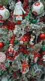 colorful decorated christmas tree Royalty Free Stock Images