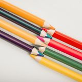 Close up of colorful drawing pencils royalty free stock photos