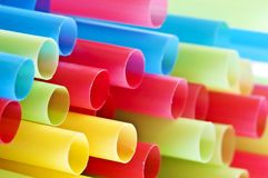 Close up of  colorful drinking straws Royalty Free Stock Image