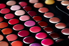 Close up of colorful eyeshadows Stock Photos