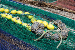 Close-up of Colorful Fishing Nets Stock Photo