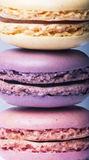Close-up of colorful french macaroons, close-up Stock Photography