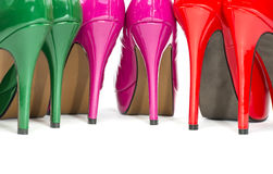 Close-up of colorful high heels shoes Royalty Free Stock Image