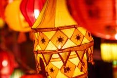 Close-up colorful international lanterns Stock Photography