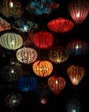 Close-up colorful international lanterns, Hoi An, Vietnam Royalty Free Stock Photos