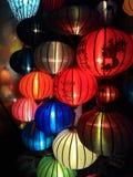 Close-up colorful international lanterns, Hoi An, Vietnam Stock Images