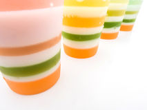Close up colorful jelly Royalty Free Stock Photos