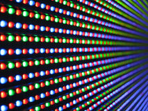 Led lights. Close up of colorful led screen Royalty Free Stock Image