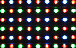 Led lights. Close up of colorful led screen stock images