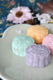 Close up Colorful Mooncake Royalty Free Stock Photography