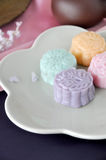 Close up Colorful Mooncake Stock Photo