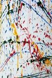 Colorful paint splatter Stock Image