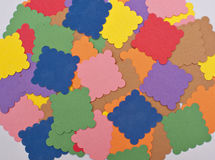 Close up colorful paper arrangement texture background Royalty Free Stock Image
