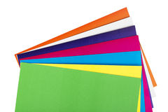 Close up colorful paper Stock Images