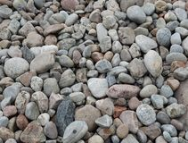 Close-up of colorful pebbles and stones stock photo