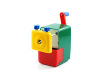 Close-up of a colorful pencil sharpener,  Royalty Free Stock Image