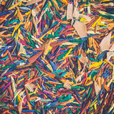 Close up colorful pencil shavings Stock Photo