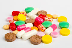 Close up colorful pills Stock Photography