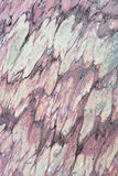 Close up of colorful rock surface, natural background, pattern and texture. Metamorphic white quartzite folded and fractured toget Royalty Free Stock Photography